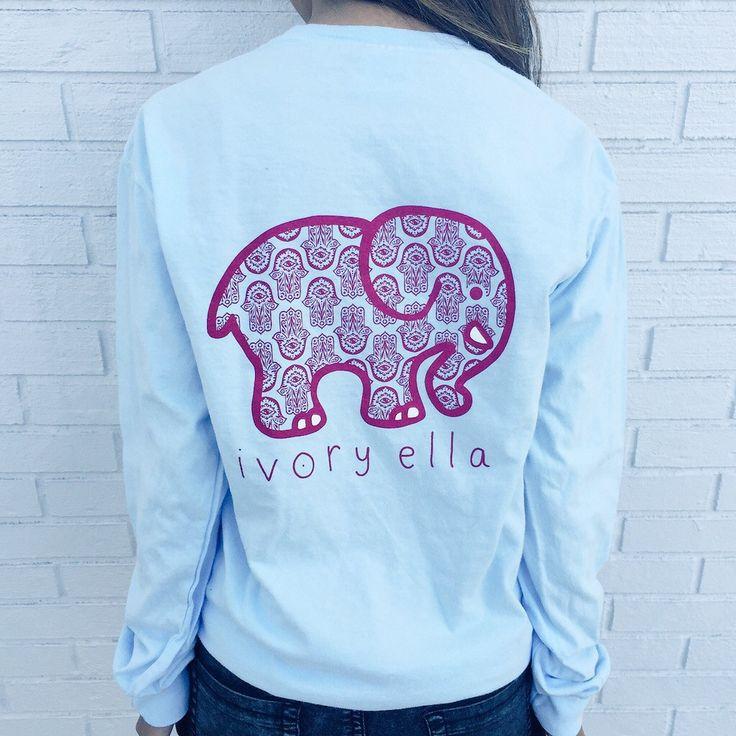 356e6c1c9a00 Pocketed Sky Blue Hamsa Print – Ivory Ella
