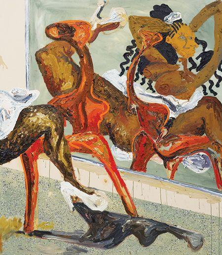 Alex Becerra, Fresa, 2014, oil on canvas, 1.8×1.6 m