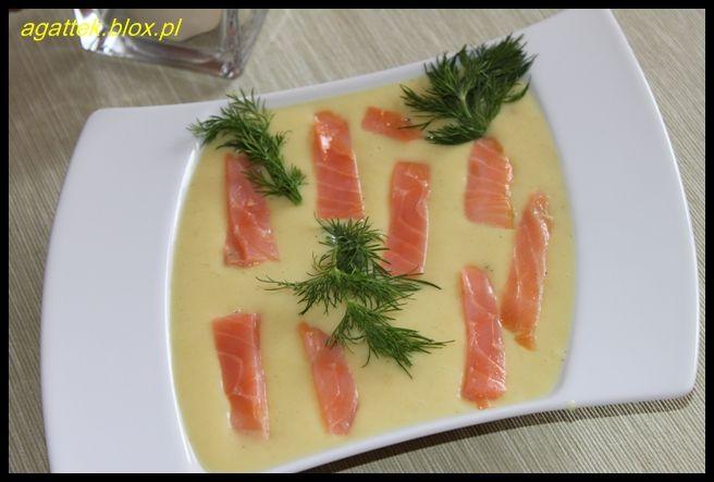 zupa ziemniaczano łososiowa