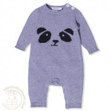 Bonnie Baby Panya Playsuit - Grey www.naturalbabyshower.co.uk/bonnie-baby-panya-playsuit-grey.html