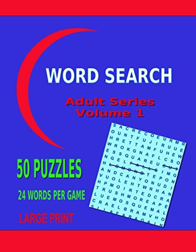 Word Search Adult Series Volume 1: 50 Lists x 24 Words Each (Word Search Adults) by Kaye Dennan http://www.amazon.com/dp/B00O8H38UK/ref=cm_sw_r_pi_dp_7oU.vb0329XQQ - A fun inspiring NEW book for word search lovers. LARGE PRINT to make it easier to find words and keep track of your successes. Loads of fun for young and old adults alike. 50 Topics to stretch your imagination!