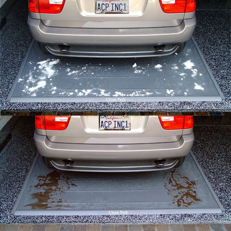 This heavy-duty vinyl mat with raised edges catches gallons of the melted snow, mud, slush, oil drips, and more from your car to help keep your garage floor clean and extra safe.