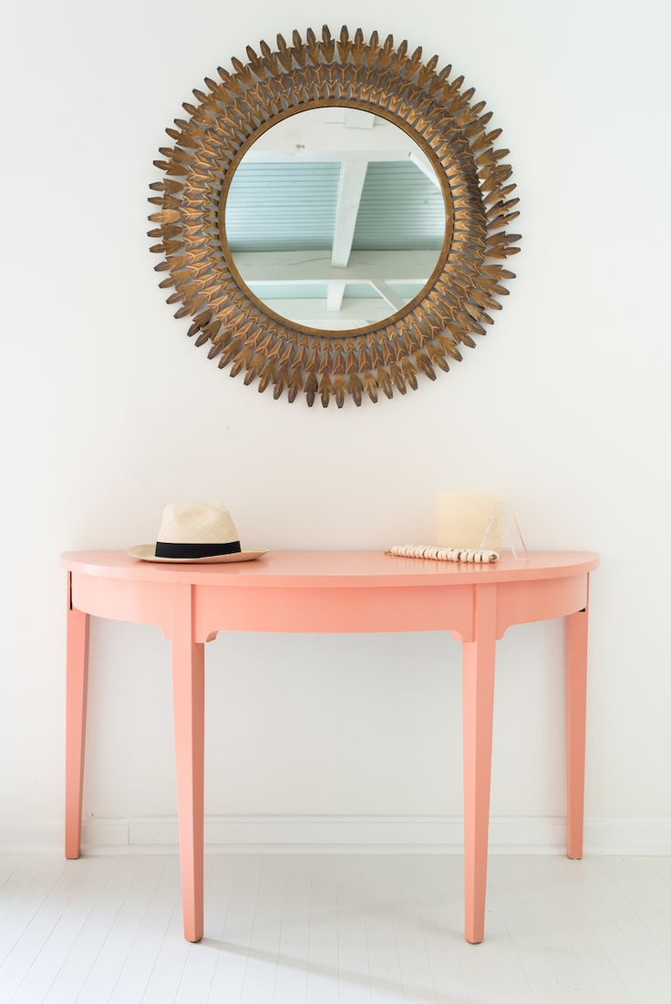 A Pastel Beach Home That Will Have You Wishing For Summer! Half Moon  TableEntryway ...