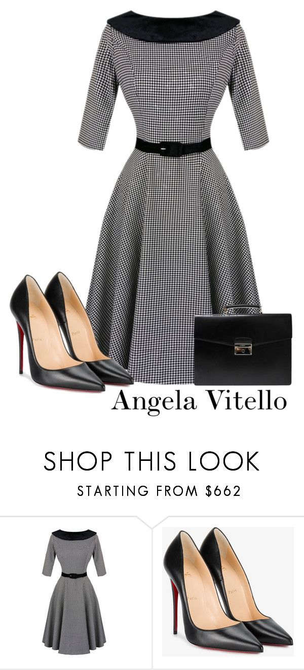 """""""Untitled #1075"""" by angela-vitello on Polyvore featuring Christian Louboutin and Prada"""
