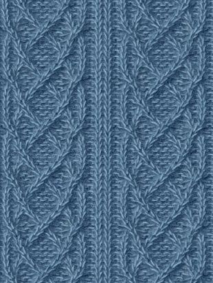 Схемы красивых узоров спицами