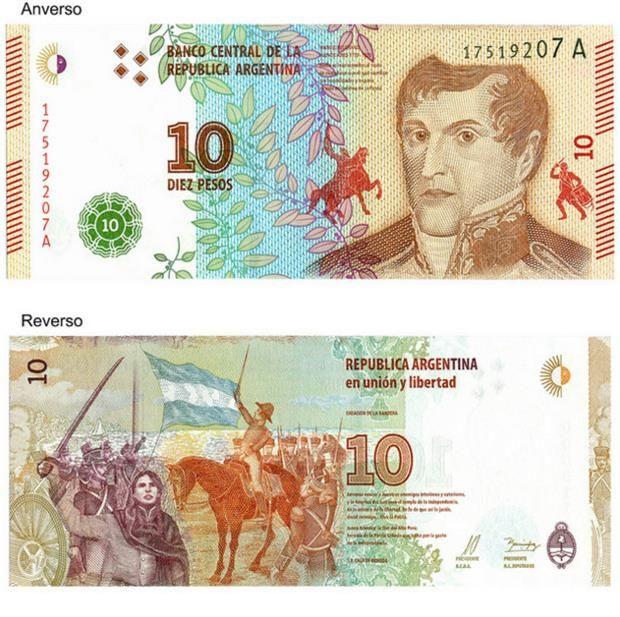 El Banco Central puso en circulación un nuevo billete de $ 10 - 04.04.2016 - LA NACION