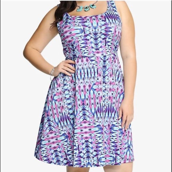 Ikat scuba dress This listing is for the dress in torrid size 2 (fits dress sizes 18-20). Very stretchy. No trades. torrid Dresses Midi