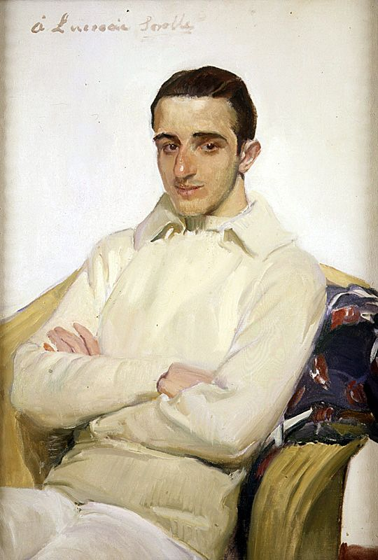Joaquín Sorolla y Bastida (Spanish, 1863-1923), Portrait of José Luis Benlliure López de Arana, c.1918.