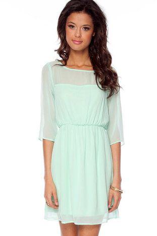 Kerry Sweetheart Dress in Mint