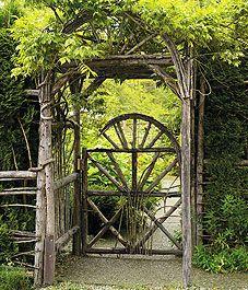 Garden GatesRustic Gate, Fence, Cottages Gardens, Rustic Gardens, Cottage Gardens, Arbors, Garden Gates, Gardens Gates, Gardens Doors