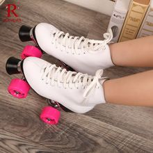 RENIAEVER Double Roller Skates Genuine Leather Two Side Roller Skate Patins Lady Ice Skates Patins Adulto Adult Skate Shoes //Price: $US $83.00 & FREE Shipping //     #tshirtdesign