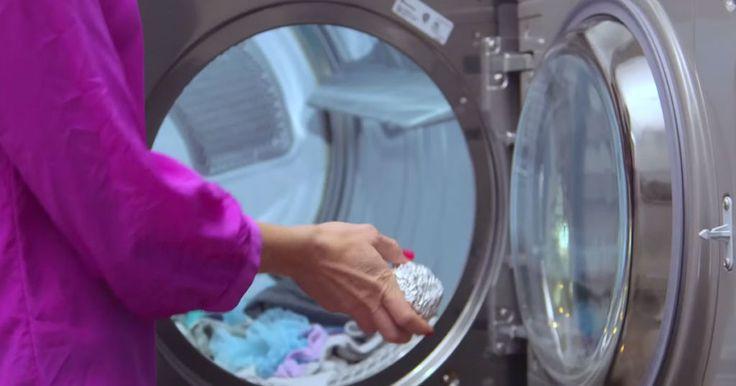 Boules d'aluminium dans séchoir: raccourci temps de séchage + élimine électricité statique.