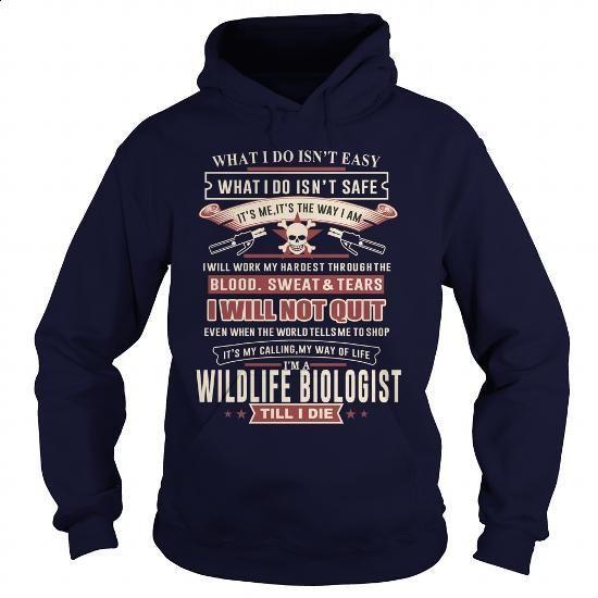 WILDLIFE BIOLOGIST-SKULL 2 - #vintage shirts #vintage t shirt. MORE INFO => https://www.sunfrog.com/LifeStyle/WILDLIFE-BIOLOGIST-SKULL-2-Navy-Blue-Hoodie.html?60505