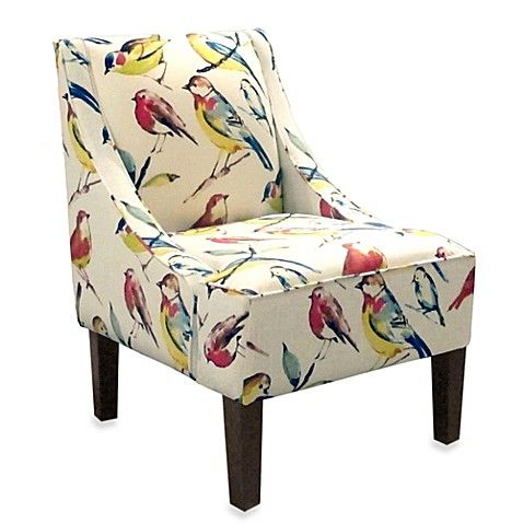 Skyline Furniture Swoop Arm Chair In Bird Watcher Summer Fabric Armchairs Furniture Upholstered Accent Chairs