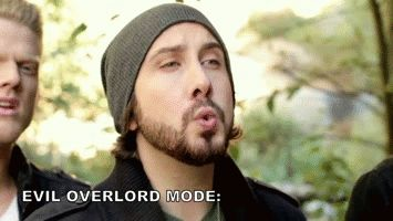 Hehe! Although Avi is definitely the opposite of an evil overlord. ;D
