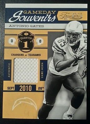 2011 ANTONIO GATES TIMELESS TREASURES GAME DAY SOUVENIRS 24 JERSEY /170 CHARGERS