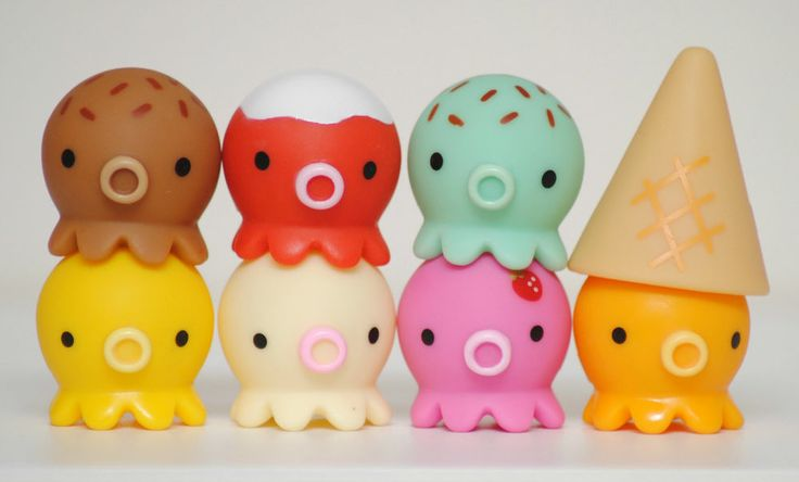 Japanese Kawaii Octopus Toy : Rare takochu kawaii japanese toy octopus figurines ice
