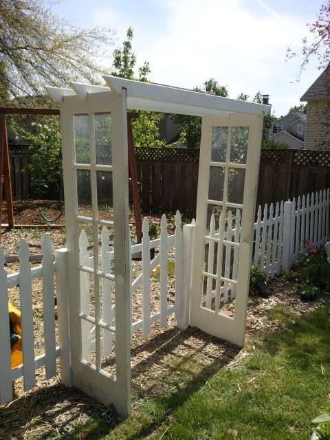 distracting debbie: Salvage French Door Arbor