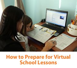 """6 Steps to Preparing for Virtual School Lessons"" from Connections Academy online school. Pin to Prepare—Create a Pinboard of ""Cool Tools for Online School"" for a Chance to Win!   #onlinelearning #timemanagement #onlineschool"
