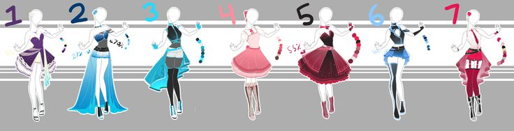 .::Adoptable Collection 12(1-2, 4-5 OPEN)::. by Scarlett-Knight on DeviantArt