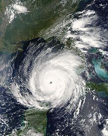Hurricane Rita came right after hurricane Katrina less than a month apart. Sept. 23, 2005!