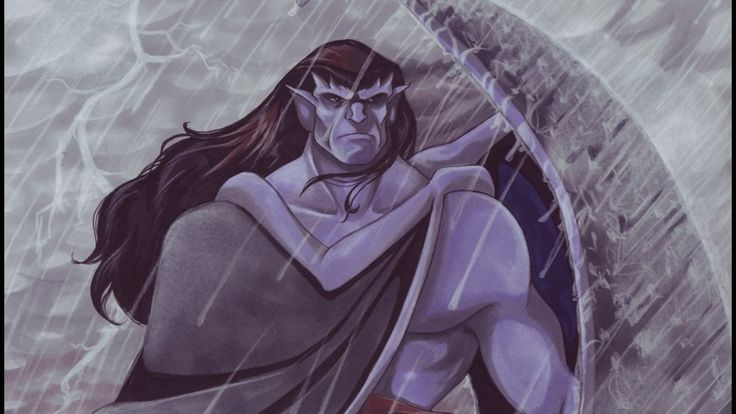 Gargoyles+Goliath+and+Elisa | Rain artwork goliath gargoyles wallpaper