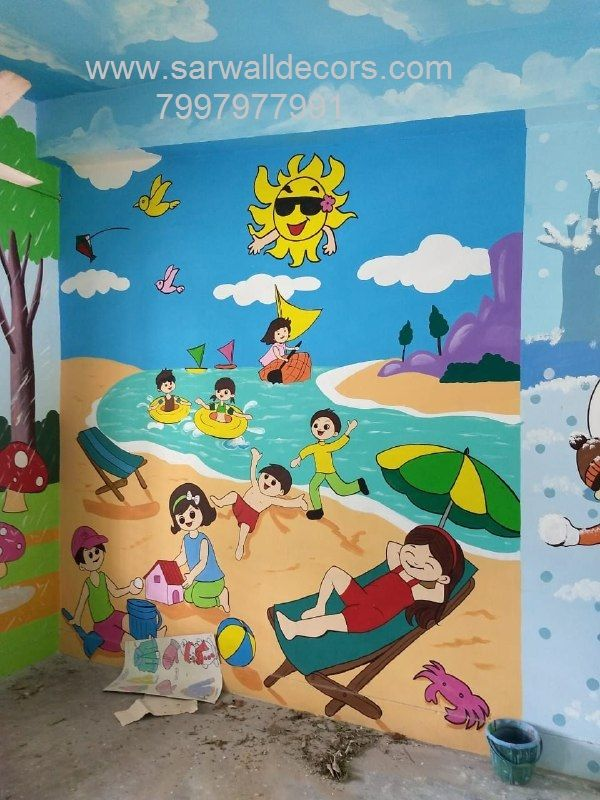Primary School Wall Art Work School Wall Art School Painting Wall Painting
