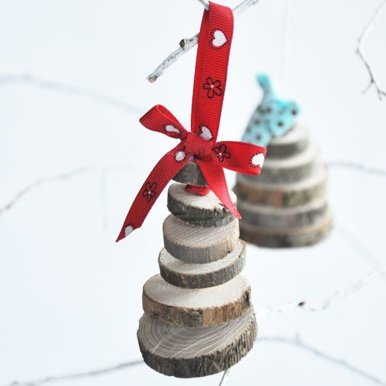 These pretty mini christmas trees makes a great ornaments