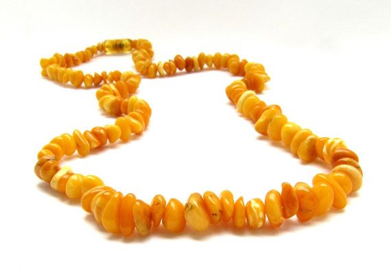 Vintage amber necklaceGenuine Amber by RussianTreasureHouse