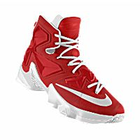 I designed the cardinal red and white Arkansas Razorbacks Nike LeBron XIII  iD men's basketball shoe.