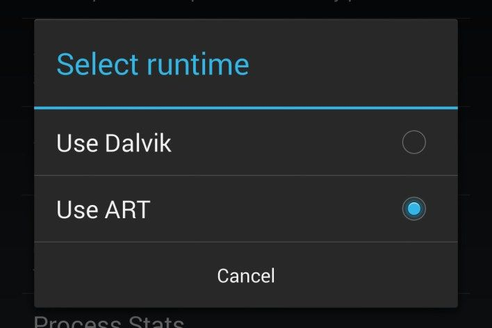 ART (Android Runtime) will substitute the Dalvik VM   http://geeky.altervista.org/blog/art-android-runtime-will-substitute-dalvik-vm/