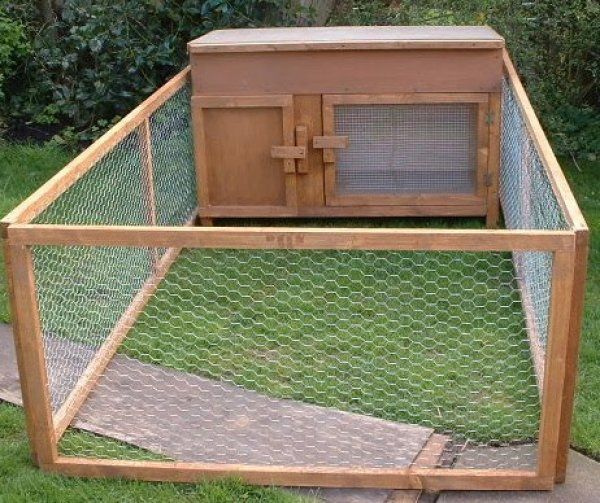 Here's a large wire mesh rabbit cage.