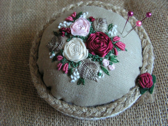 pincushion by Mydaisy2000 on Etsy, $25.00
