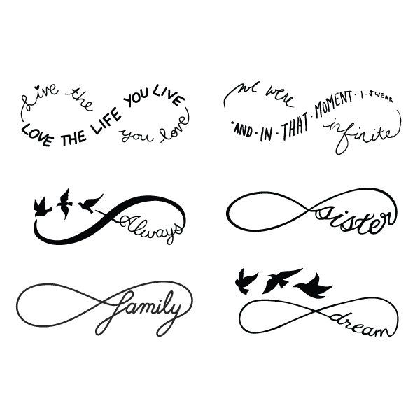 Infinity Symbol Set – Temporary Tattoo (Set of 12)