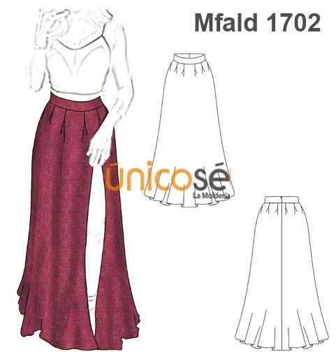 8648befd2 FALDA POLLERA LARGA FIESTA MUJER | Patrones Alta costura | Patrones ...
