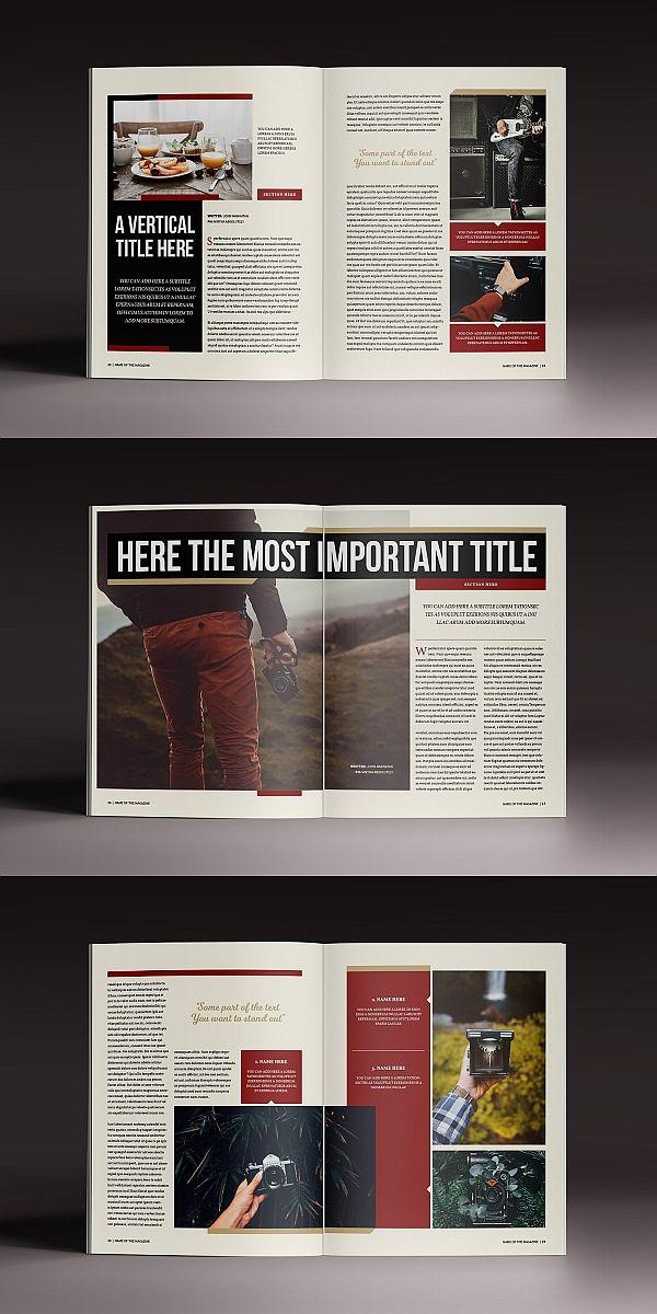 The Marshal Magazine Template Magazine Brochure Template