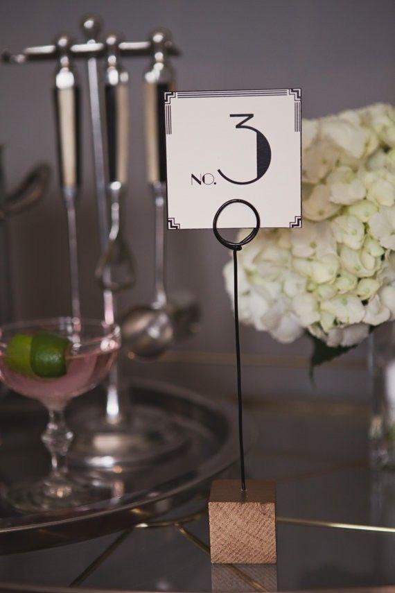 wood wedding card holders%0A Art Deco Gold Square Table Number Holders       beach wedding card holder   Sea Shell