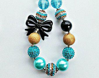 Collar estrella de mar collar de goma de mascar por BeadsOhMy