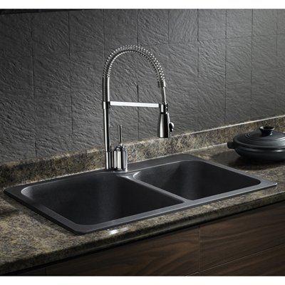 BLANCO SOP1 Vision Silgranit Drop-in Double Bowl Sink