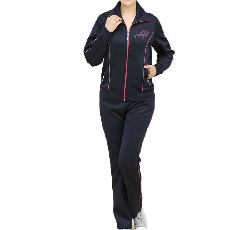 Casual Clothings Women Two Piece Tracksuit For Middle Aged Womens Blue Red Purple Hem Leisure Wear Suits Plus Size Outfit 40s 50