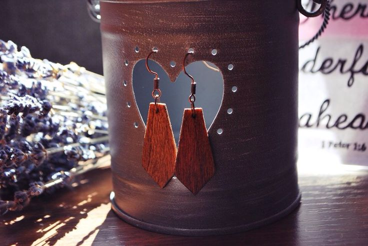 www.facebook.com/lemnleben #wood #earrings