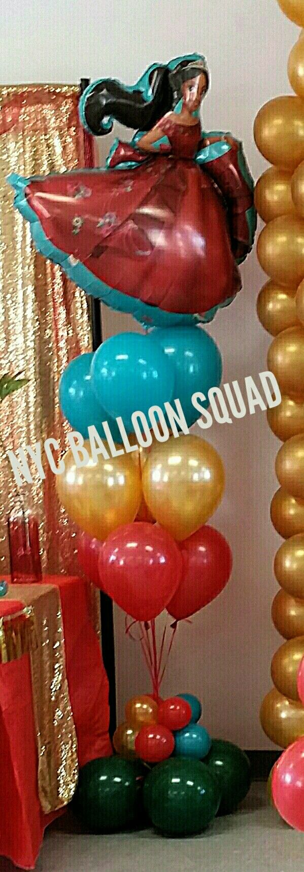 Disney Princess Elena of Avalor balloon bouquet centerpiece / floor bouquet
