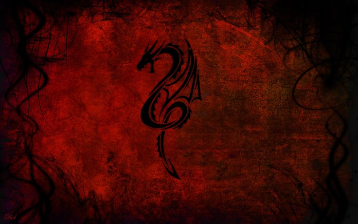 HD Background Red Dragon Art Patterns Design Wallpaper ...