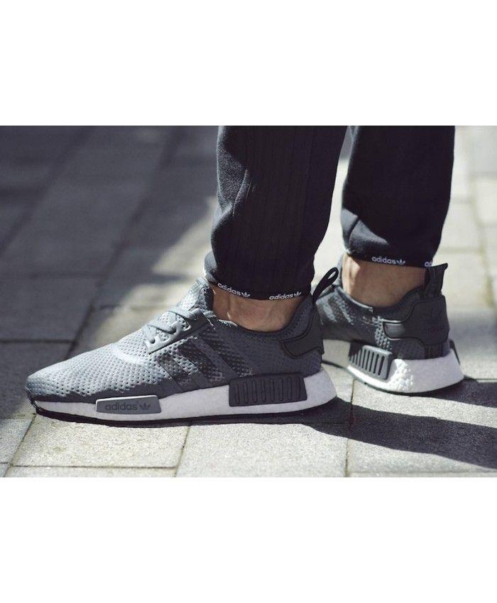 Adidas Nmd R1 Wolf Grey trainers for cheap   Adidas nmd r1, Adidas ...
