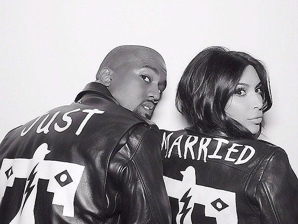 Kanye West Claims Annie Leibovitz is 'Afraid of Celebrity' image Kanye West Kim Kardashian BLK DNM Leather Jackets
