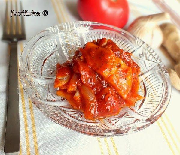 Śledzie w słodko-kaśnym sosie pomidorowym z nutą imbiru | Justinka in The Kitchen