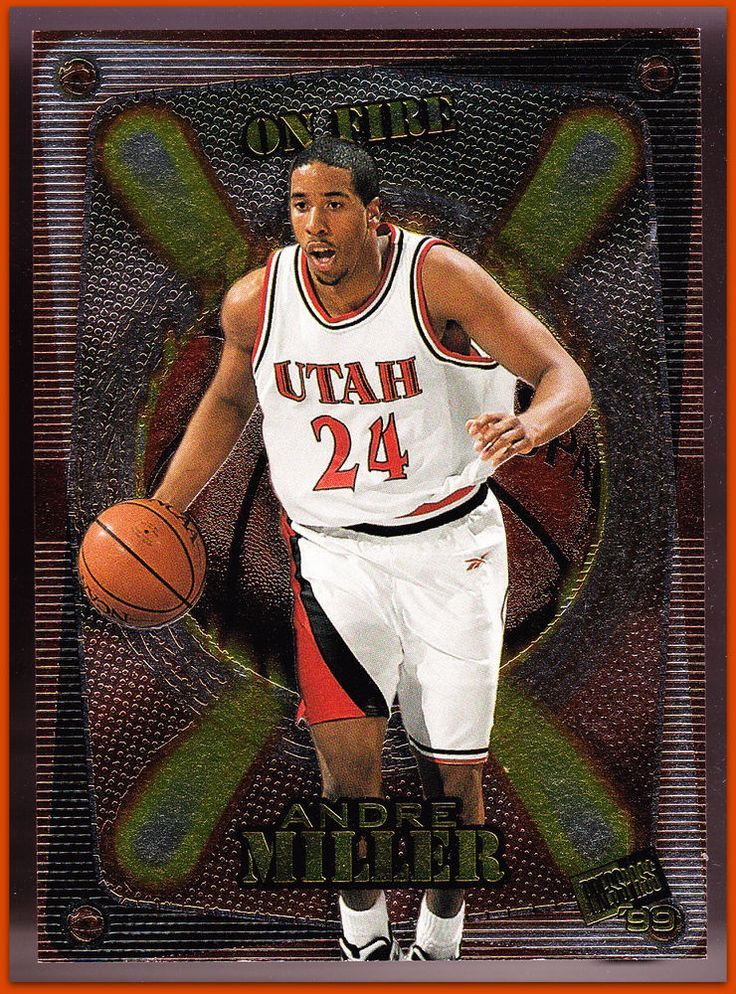 UTAH UTES 1999-2000 PRESS PASS ON FIRE ANDRE MILLER NMMT CONDITION FREE SHIPPING #DenverNuggets #Insert