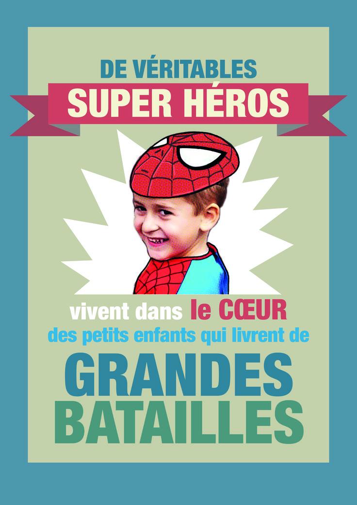 #JournéeInternationale #handicap #sensibilisation #HopToys #Handicap #Citation #Poster De véritables super héros vivent dans le cœur de ceux qui livrent de Grandes batailles