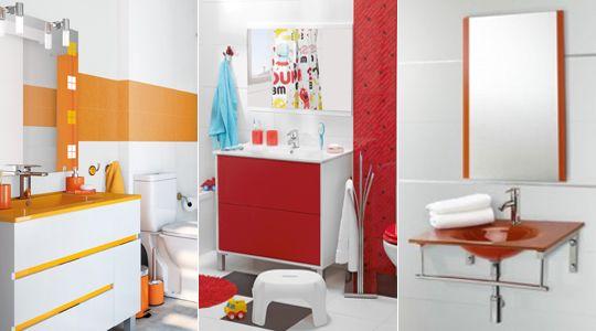 Resultado de imagen para accesorios rojos para el baño