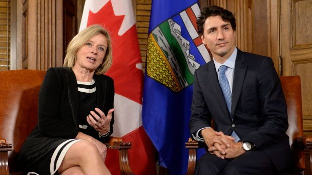 Prime Minister Justin Trudeau and Alberta Premier Rachel Notley met after Tuesday pipeline announcements.